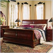 American Drew Cherry Grove Sleigh Bed in Antique Cherry Finish