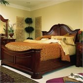 American Drew Cherry Grove Mansion Panel Bed in Antique Cherry Finish