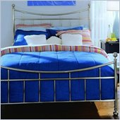 American Drew Camden Metal Bed in Brushed Nickel Finish
