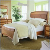 American Drew Antigua Upholstered Panel Bed in Toasted Almond Finish
