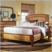 American Drew Antigua Low Profile Panel Bed in Toasted Almond Finish