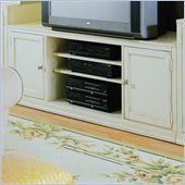 American Drew Camden 51 TV Stand in Buttermilk Finish
