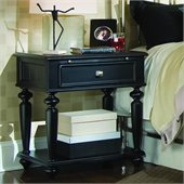 American Drew Camden Black Leg Nightstand