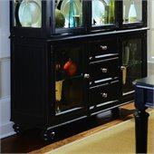American Drew Camden Black China Buffet Credenza