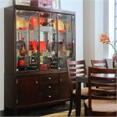 American Drew Tribecca China Cabinet in Root Beer Finish