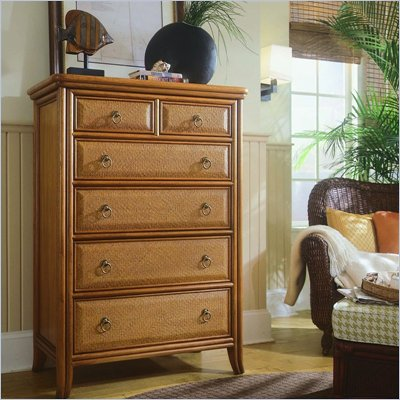 American Drew Antigua 6 Drawer Chest in Toasted Almond Finish