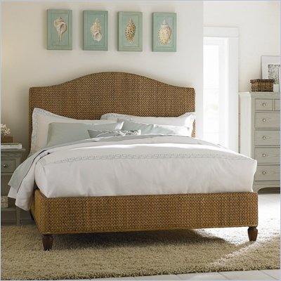 American Drew Ashby Park Banana Leaf Woven Panel Bed
