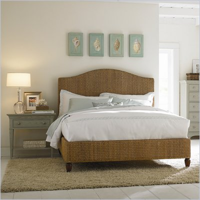 American Drew Ashby Park Banana Leaf Panel Bed 2 Piece Bedroom Set