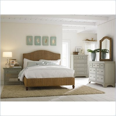 American Drew Ashby Park Banana Leaf Panel Bed 5 Piece Bedroom Set