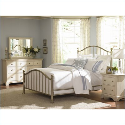 American Drew Ashby Park Nickel Plated Metal Bed 3 Piece Bedroom Set