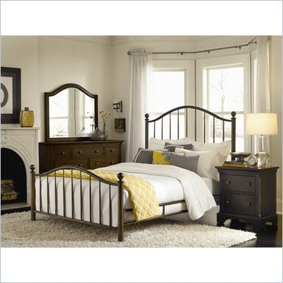American Drew Ashby Park Dark Copper Metal Bed 2 Piece Bedroom Set