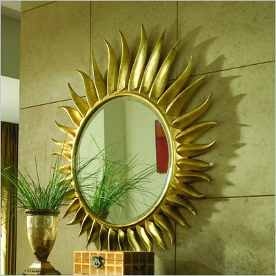 American Drew Bob Mackie Signature Accent Round Mirror