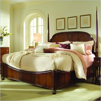 American Drew Bob Mackie Signature Poster Bed in Rosewood Finish