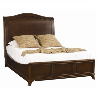 American Drew Cherry Grove Sleigh Bed in Mid Tone Brown