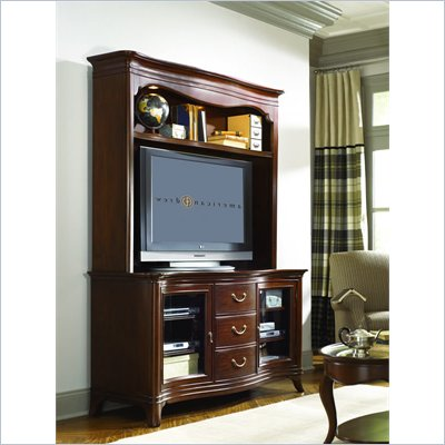 American Drew Cherry Grove Entertainment Console Hutch in Toned Brown