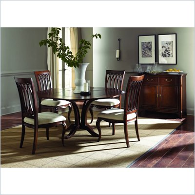 American Drew Cherry Grove Square Table in Mid Tone Brown