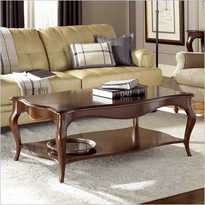 American Drew Cherry Grove Cocktail Table in Mid Tone Brown