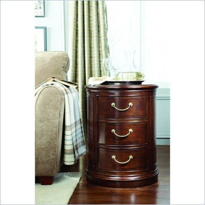 American Drew Cherry Grove Drum End Table in Mid Tone Brown