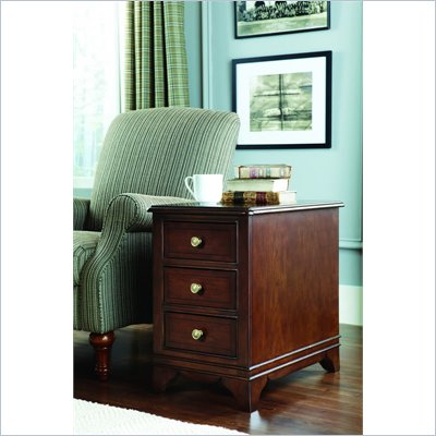American Drew Cherry Grove Chairside Table in Mid Tone Brown