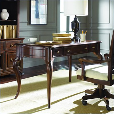 American Drew Cherry Grove Writing Desk in Mid Tone Brown