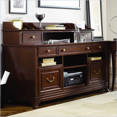 American Drew Cherry Grove Home Office Credenza in Mid Tone Brown