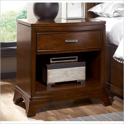 American Drew Essex Drawer Nightstand in Mink