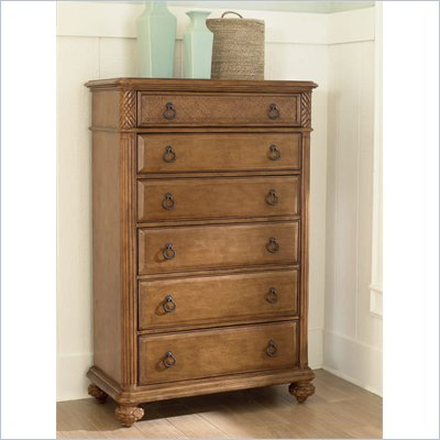 American Drew Grand Isle 6 Drawer Chest in Amber Finish