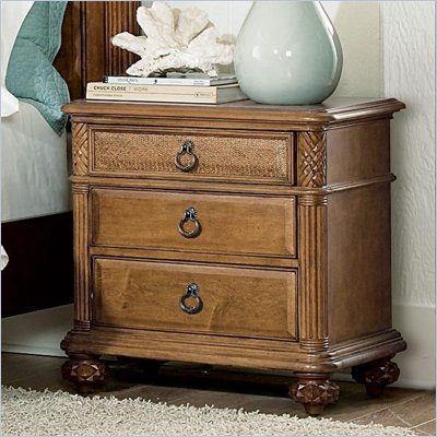 American Drew Grand Isle 3 Drawer Nightstand in Amber Finish