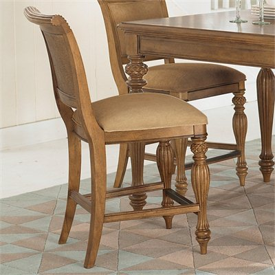 American Drew Grand Isle Counter Height Barstool in Amber Finish