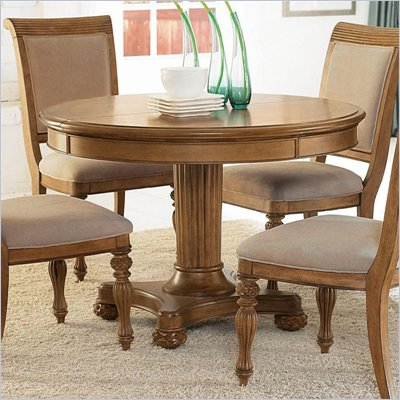 American Drew Grand Isle Round Dining Table in Amber Finish