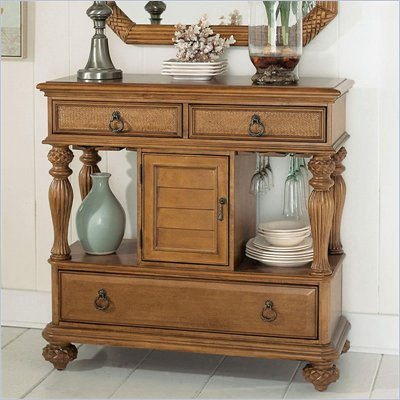American Drew Grand Isle Side Board in Amber Finish