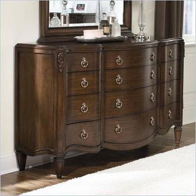 American Drew Jessica McClintock Couture 12 Drawer Triple Dresser in Mink Finish