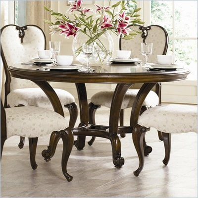 American Drew Jessica McClintock Couture 60&quot; Round Formal Dining Table in Mink