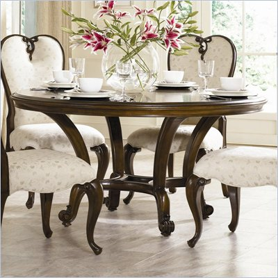 "American Drew Jessica McClintock Couture 60"" Round Formal Dining Table in Mink"
