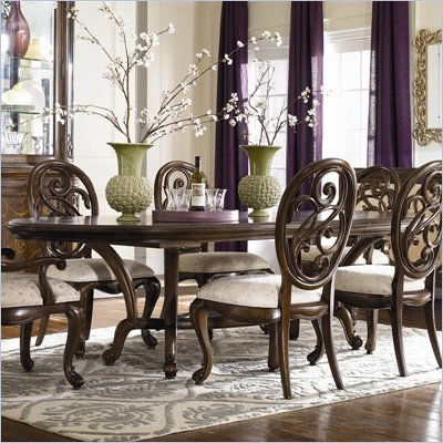 American Drew Jessica McClintock Couture Renaissance Formal Dining Table in Mink