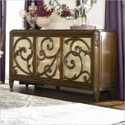 American Drew Jessica McClintock Couture Stone Top Buffet in Mink Finish