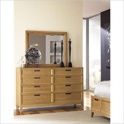 American Drew Sedona Mirror in Scrubbed Dusty Oak