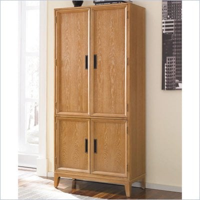 American Drew Sedona Vertical Storage Chest in Dusty Oak