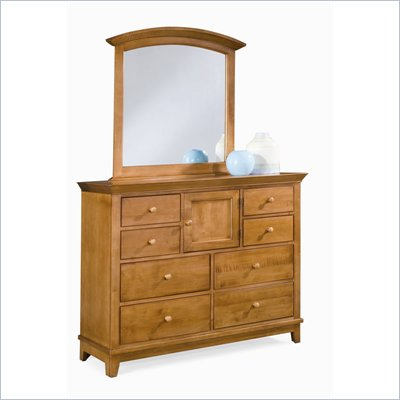 American Drew Sterling Pointe Vertical Mirror and Dresser Set in Maple