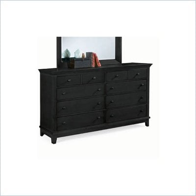 American Drew Sterling Pointe 8 Drawer Double Dresser in Black