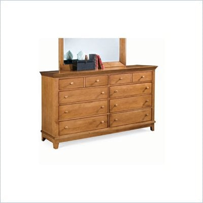 American Drew Sterling Pointe 8 Drawer Double Dresser in Maple Finish