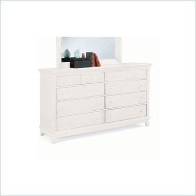 American Drew Sterling Pointe 8 Drawer Double Dresser in Off-White