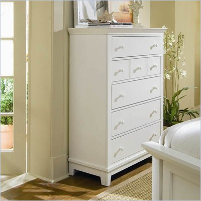 American Drew Sterling Pointe 5 Drawer Chest in Off-White Finish