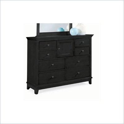 American Drew Sterling Pointe 8 Drawer Double Dresser in Black Finish