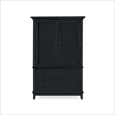 American Drew Sterling Pointe Door Chest Armoire in Black