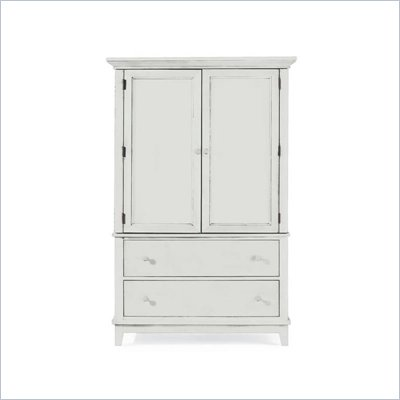 American Drew Sterling Pointe Door Chest Armoire in Off-White