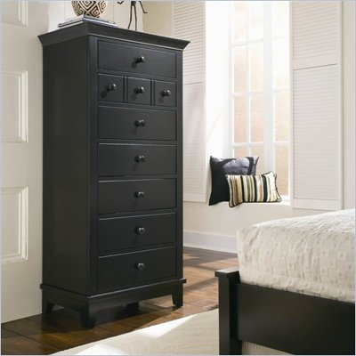 American Drew Sterling Pointe 7 Drawer Lingerie Chest in Black Finish