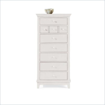 American Drew Sterling Pointe 7 Drawer Lingerie Chest in Off-White Finish