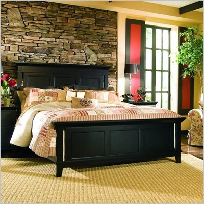 American Drew Sterling Pointe Panel Bed in Black