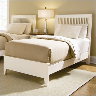 American Drew Sterling Pointe Off-White Wood Slat Bed 2 Piece Bedroom Set